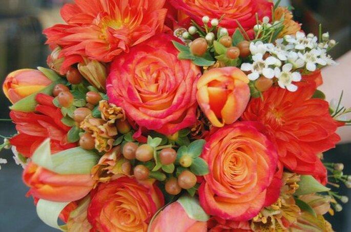 Colorido bouquet para novia. Foto: Flower Factor