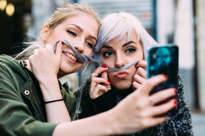 selfie para as redes sociais