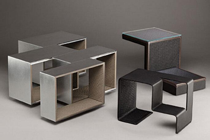 La nuova Home Collection di Bottega Veneta, comprendente le sedie Meta in collaborazione con Frau