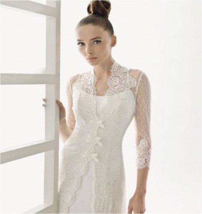 Rosa Clará, abrigo de encaje para novias de invierno
