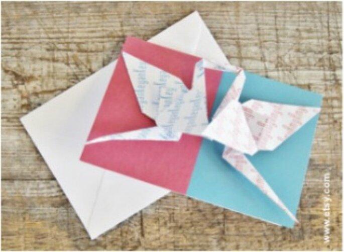 Avec l'origami, donnez une touche unique et personnalisée à votre mariage
