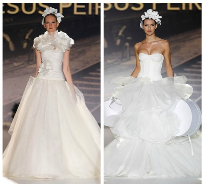 Brautkleider von Jesús Peiró aus der Kollektion 2012.