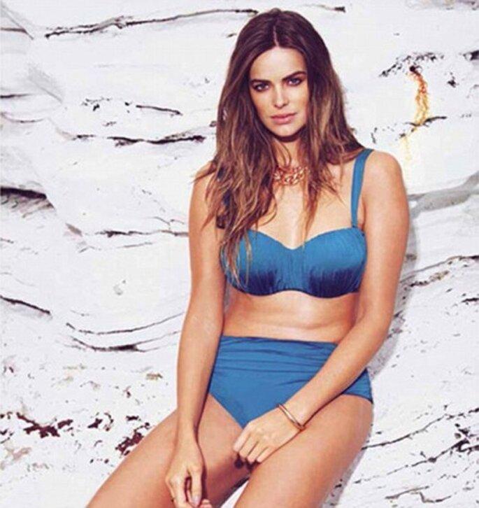 Elegante bikini plus size para novias en color azul - Foto Madison Plus Select