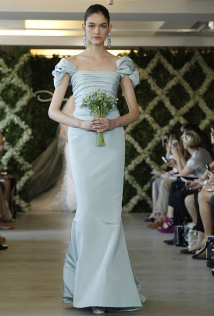 farbiges Hochzeitskleid von Oscar de la Renta - wedding-dresses-spring-2013