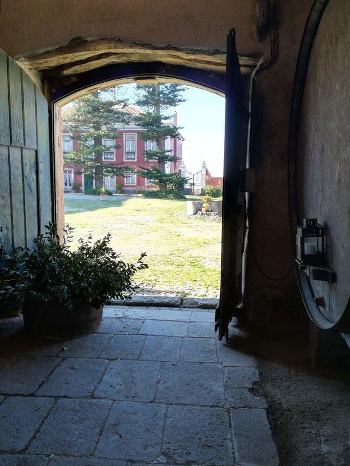 Vista para exterior da Quinta da Picanceira