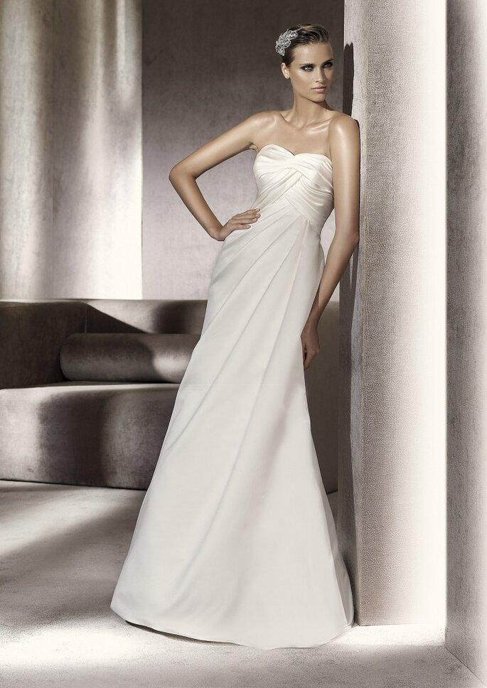 Vestido de novia línea A. Foto: Pronovias 2012