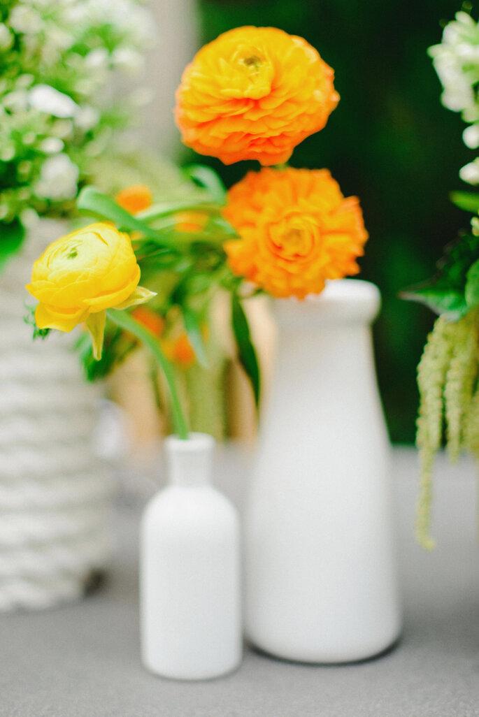 Decoración en amarillo intenso - Rustic White