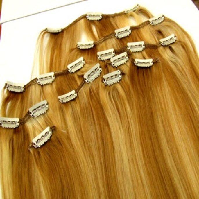 Extensiones de cabello de clip, quita y pon