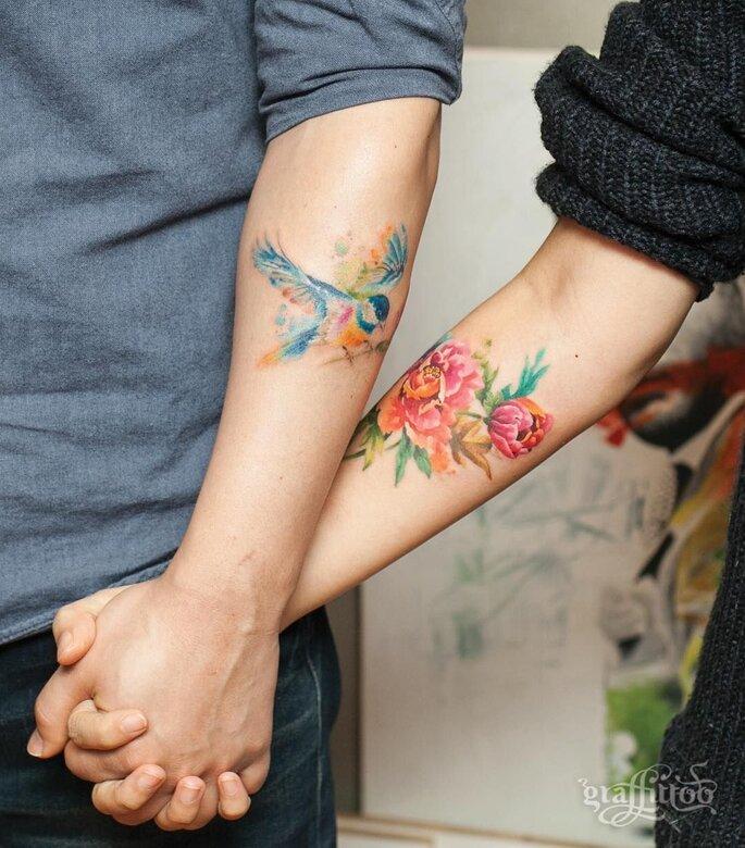 tatuagens a dois tatuagens casal