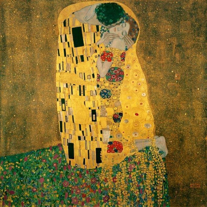 Поцелуй, Густав Климт