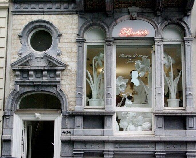 Le talentueux fleuriste français a sa boutique à Bruxelles. Photo : Thierry Boutemy