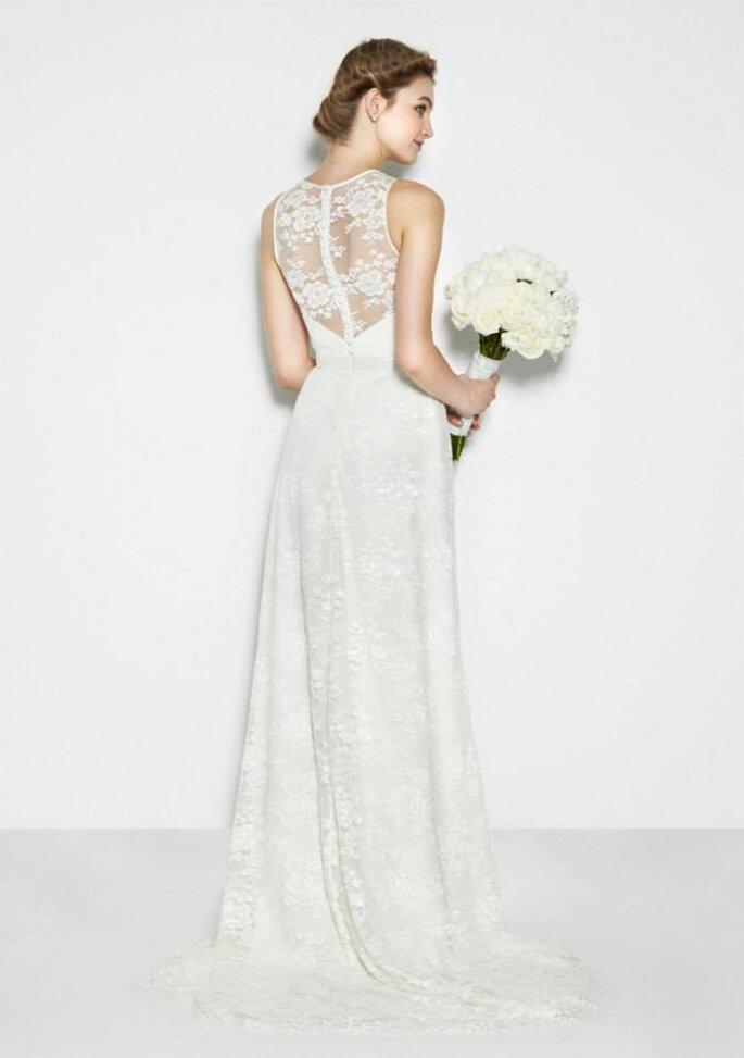 Vestidos de novia 2015 con encaje envolvente - Nicole Miller