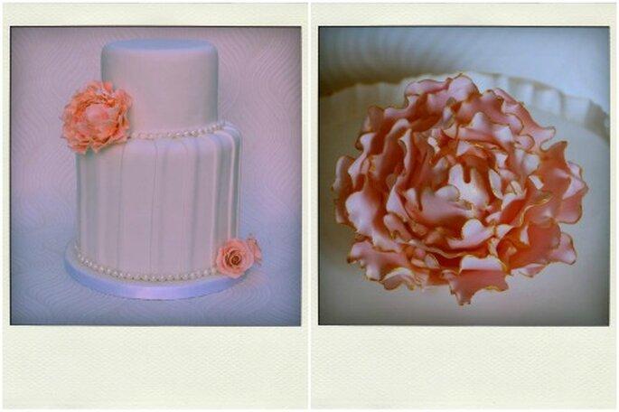 Pasteles para boda de Tea Bakes. Foto: Tea Bakes