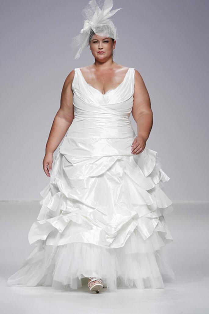 Robe de mariée à volants, jupon en tulle
