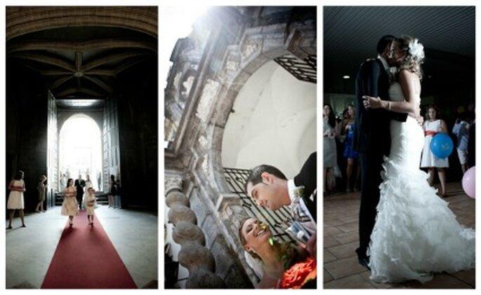 Distintas imágenes de la boda entre Maite y Paco- Fotos: Valentín Gámiz