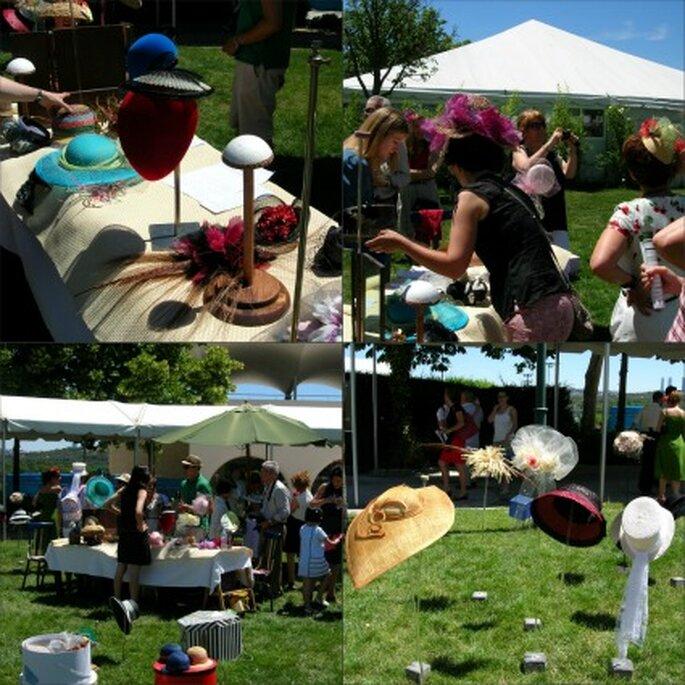Espacio dedicado a las preubas de los sombreros - Amaya Barriuso