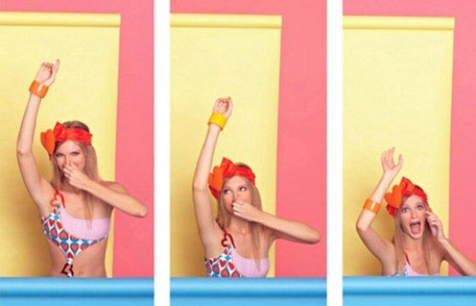 Trajes de baño. Foto del sitio de Agatha Ruiz de la Prada.