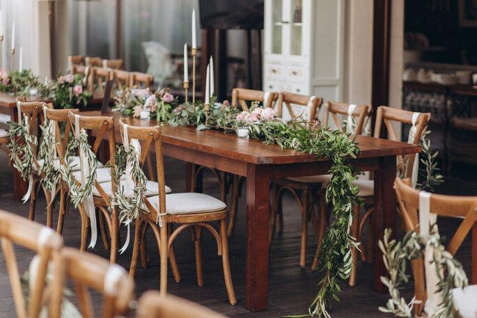 Une décoration de mariage champêtre