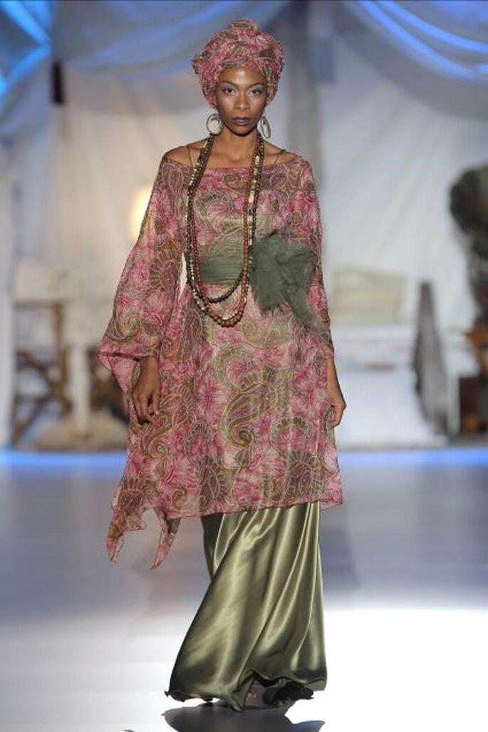 Le glamour de la savane africaine inspire aussi les robes de soirée de la collection Inmaculada García 2014