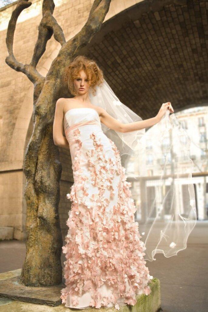 Robe de mariée Aurélie Cherell 2014 : poétique, épurée et raffinée