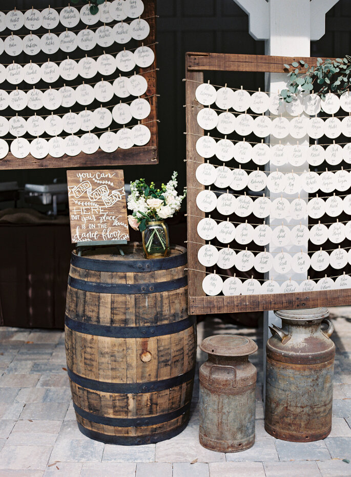 decoración con barriles - Lauren Peele