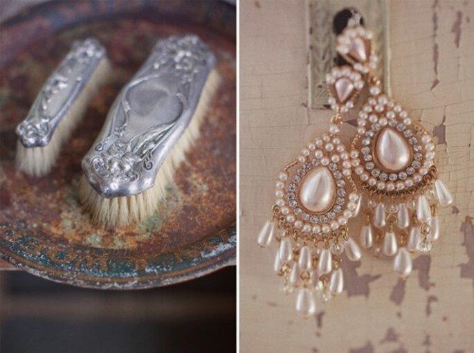 Usa cualquier objeto desgastado para la decoración de tu boda vintage - Foto Stephanie Williams