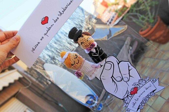 Muñecos de amigurimi para repartir entre los invitados casaderos. Foto: Mr. Wonderful.