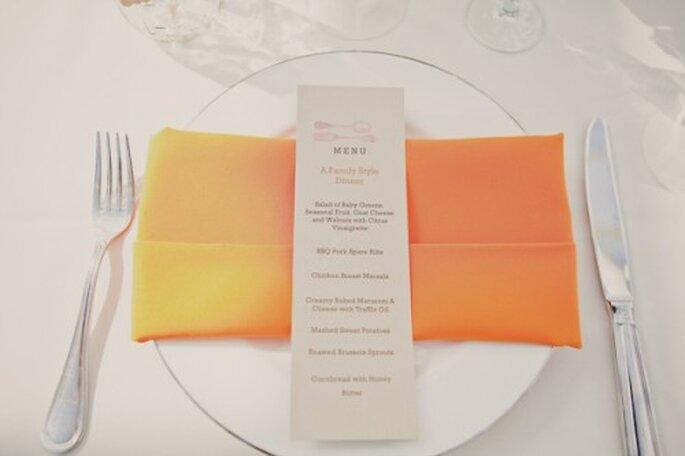 Añade un poco de energía en tu boda con el color nectarina - Foto Tiny Water