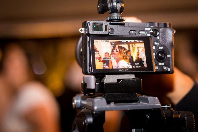 câmera de filmagem casamento