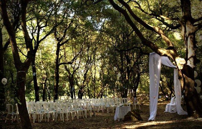 Une cérémonie laïque organisée dans les bois