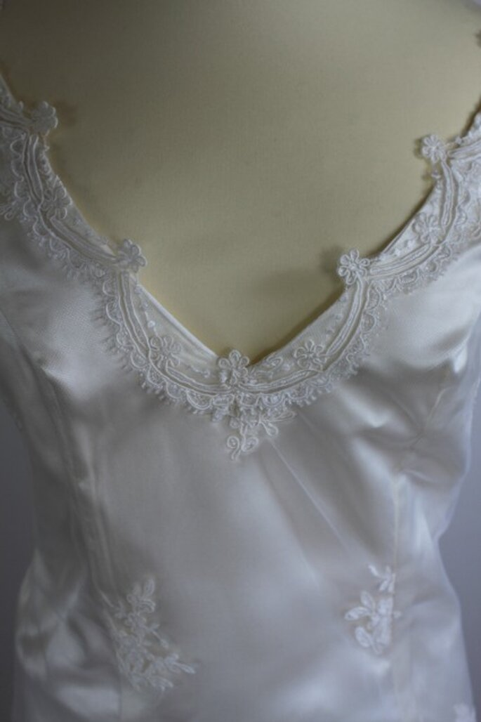 Souci du détail pour une robe de mariée unique - Photo : Pascale de Lavernette