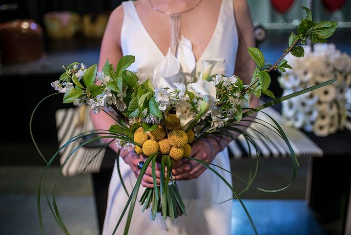 Bouquet tematici per ogni modella - Foto @ Franco Lops e Paolo Araldi
