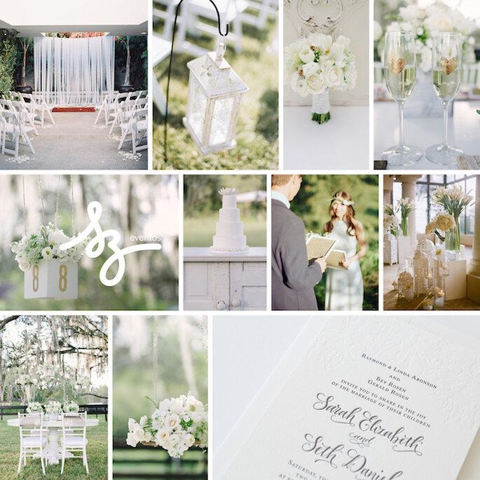 Inspiración para decorar tu boda con la magia del color blanco - Fotos de Michael Radford Photography, Rustic White Photography, Alina valitova, Krista A Jones