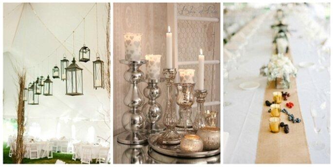 Rustikale Hochzeitsdekoration - Fotos: Himmelblau & Rosarot/Jeff Sampson.