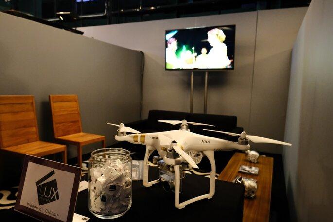 Drone da Lux Produção fez sucesso em evento. Foto: Namour Filho