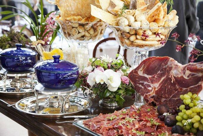 Buffet eventos comida italiana antepasto