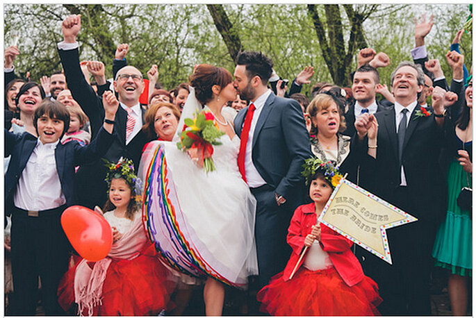 Una boda real muy colorida. Foto: We Heart Pictures
