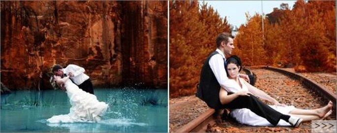 Das Element Wasser - wunderbar geeignet für Trash the Dress Aufnahmen! Foto: (c) Copyright Claudia Gallwitz - http://claudia-gallwitz.de