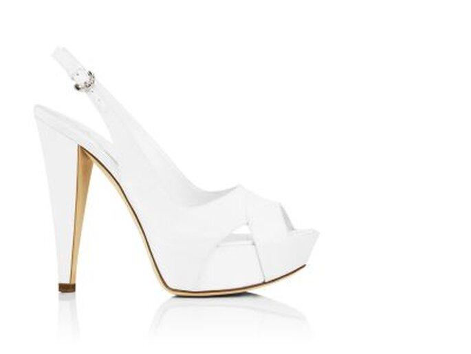 Zapatos de novia de tacón alto. De Sergio Rossi