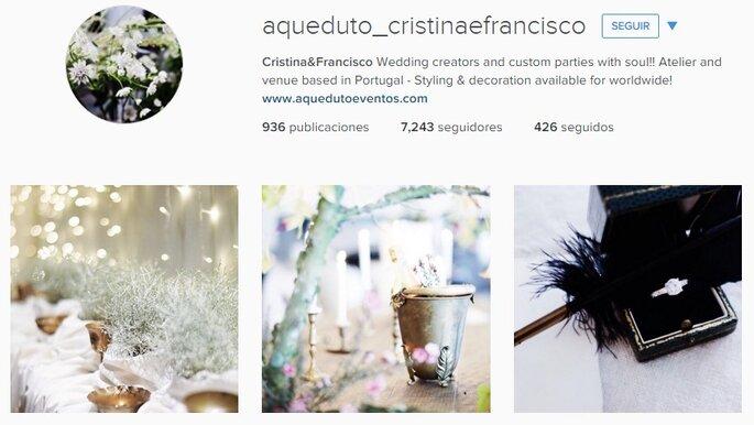 Imagen vía Instagram Aqueduto Eventos. Cristina&Francisco