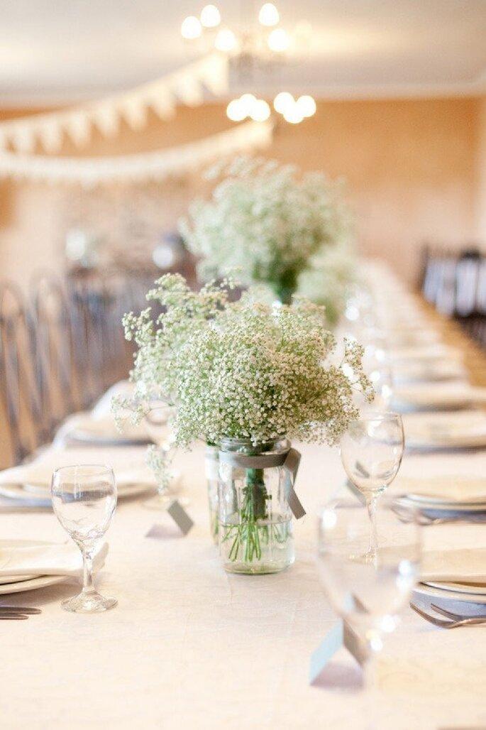Centros de mesa perfectos para una boda minimalista - Foto Yolandé Marx Photography