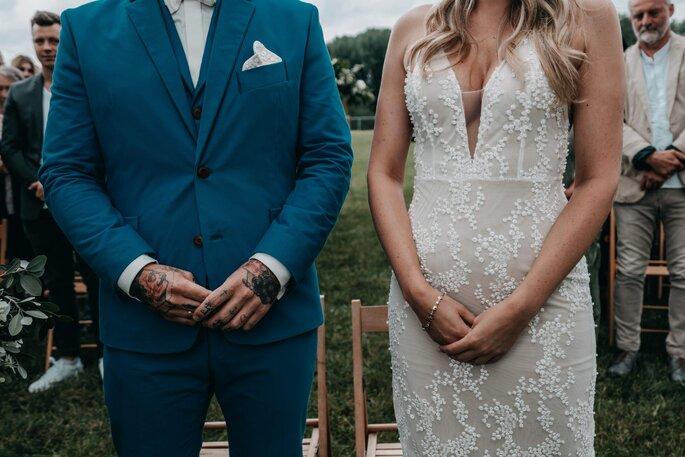 Brautpaar während Zeremonie