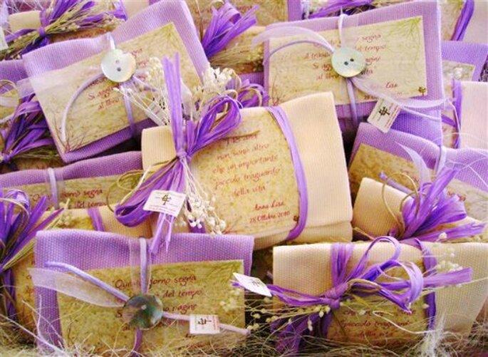 Bomboniere bio per le vostre nozze. Foto www.bioedeco.it