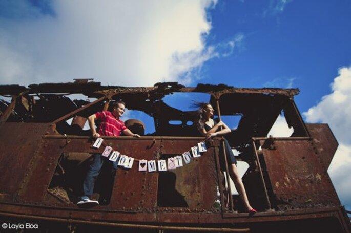 Fotografía de boda en zonas industriales. Imagen Layla Eloa