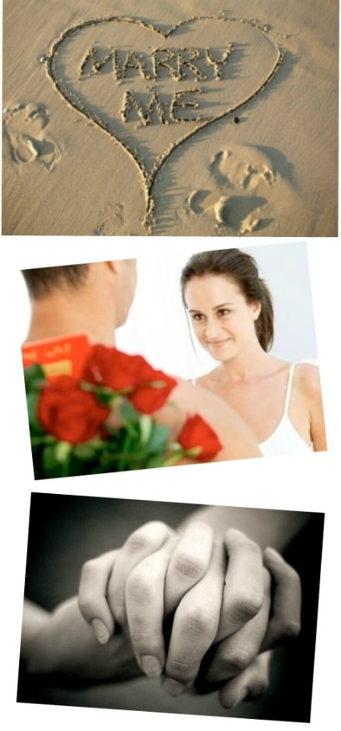 El novio sorprende cuando hace la pregunta a la novia