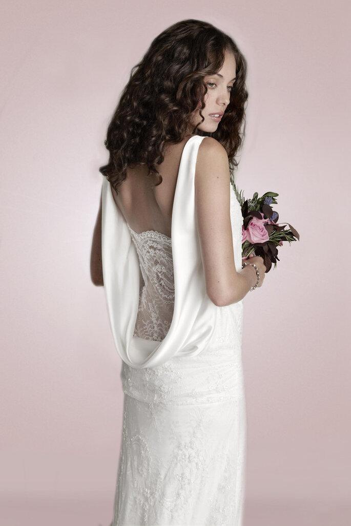 Vestido de novia inspirado en la década de 1920 de Charlie Brear. Foto: www.charliebrear.com