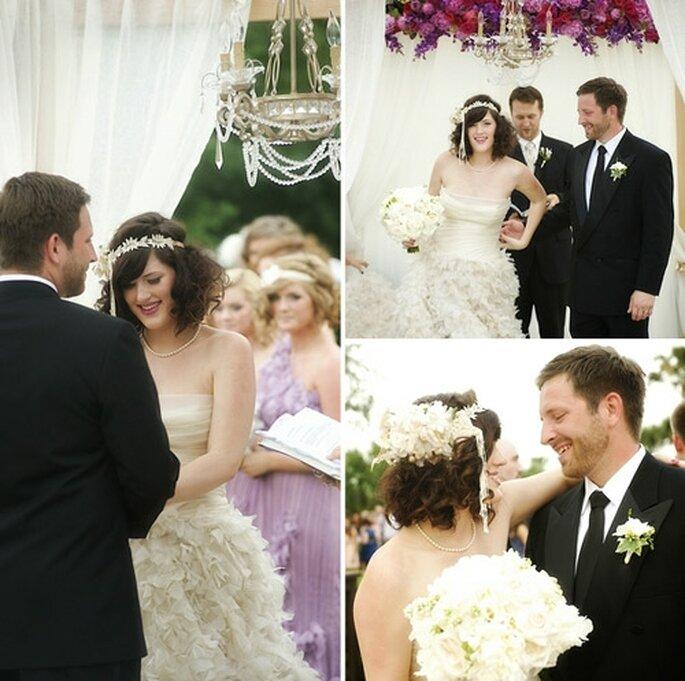 Un mariage vintage glamour. - Photo : Kim Maguire Photography