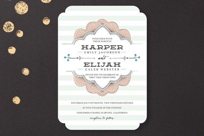 Ilustraciones y diseños divertidos para tus invitaciones de boda - Foto Minted