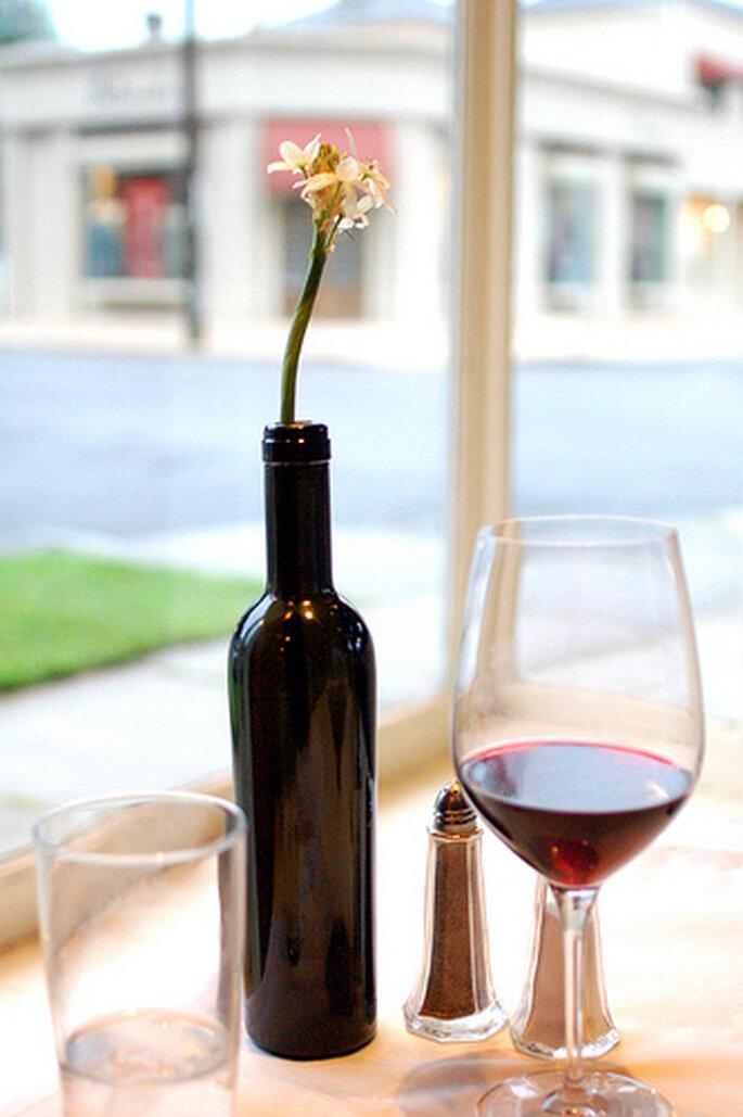 Copa para servir vino tinto.Imagen Creative Commons