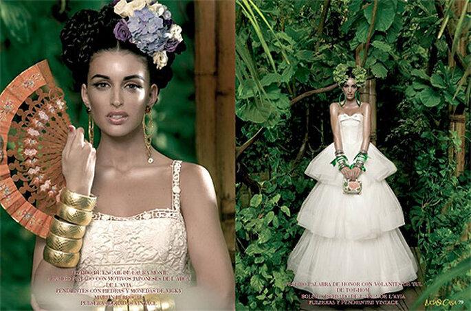 La revista recoge los mejores vestidos de novia de cada temporada. Foto: Foto: LucíaSeCasa